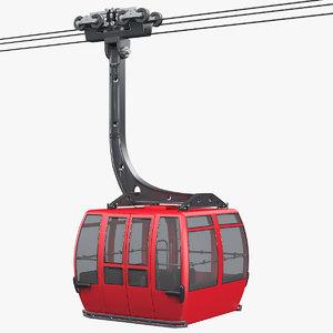 3d ski lift gondola