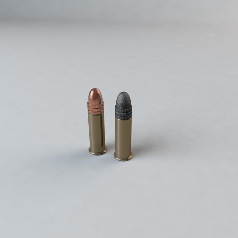 3d model of 22 caliber ammo