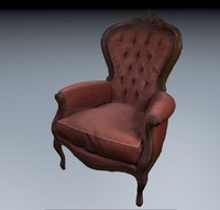 3d old armchair model
