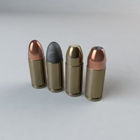 9mm ammo c4d