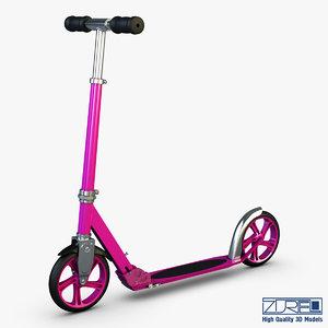 kick scooter pink 3d model