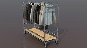rack clothes 3d model