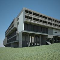 3d le corbusier monastery la