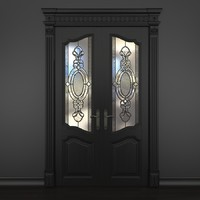 3d max door stained-glass dark