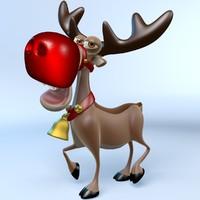 3d rudolph reindeer