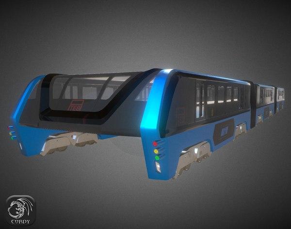 3d model teb bus