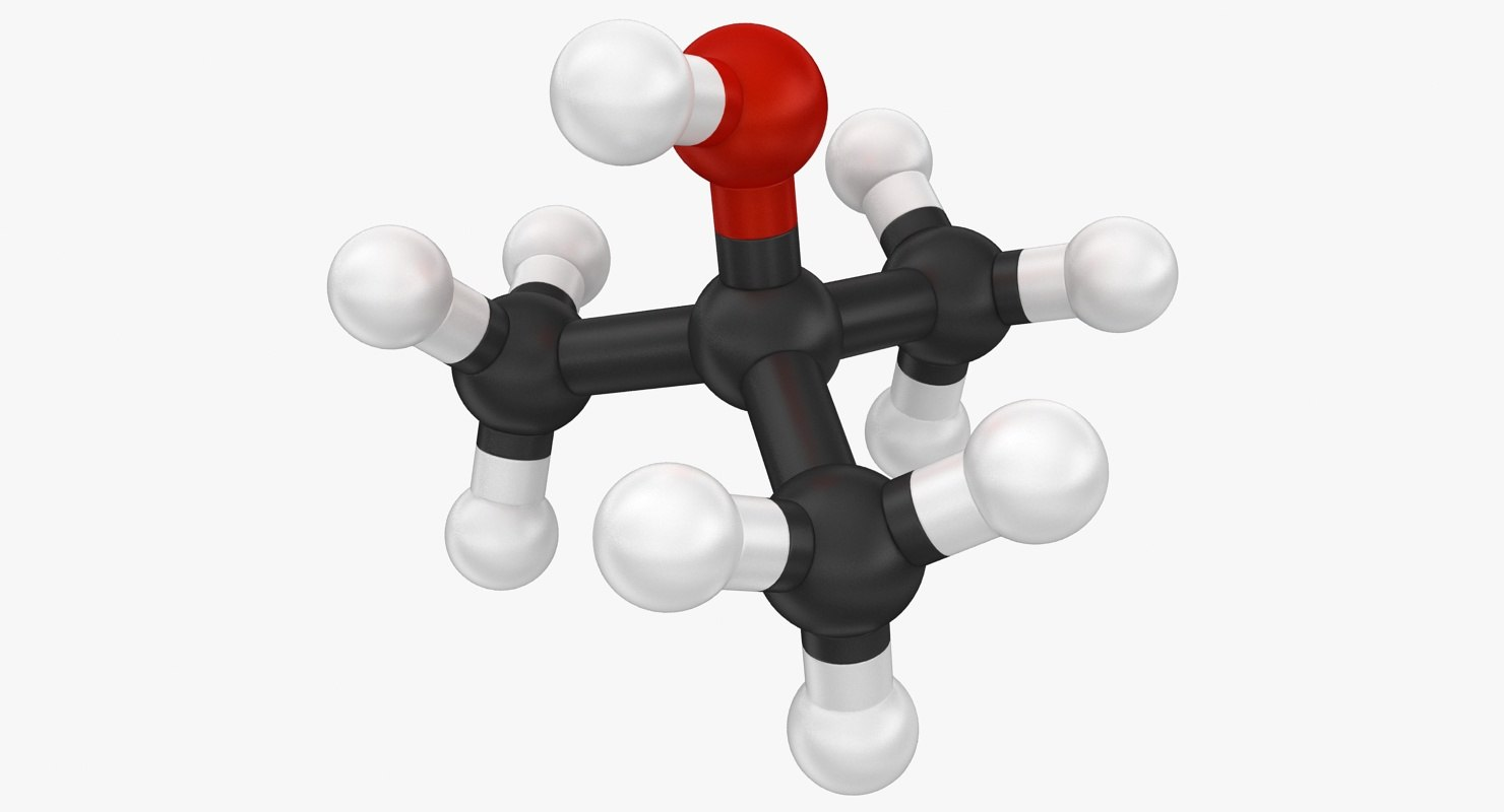 3d model tert butanol