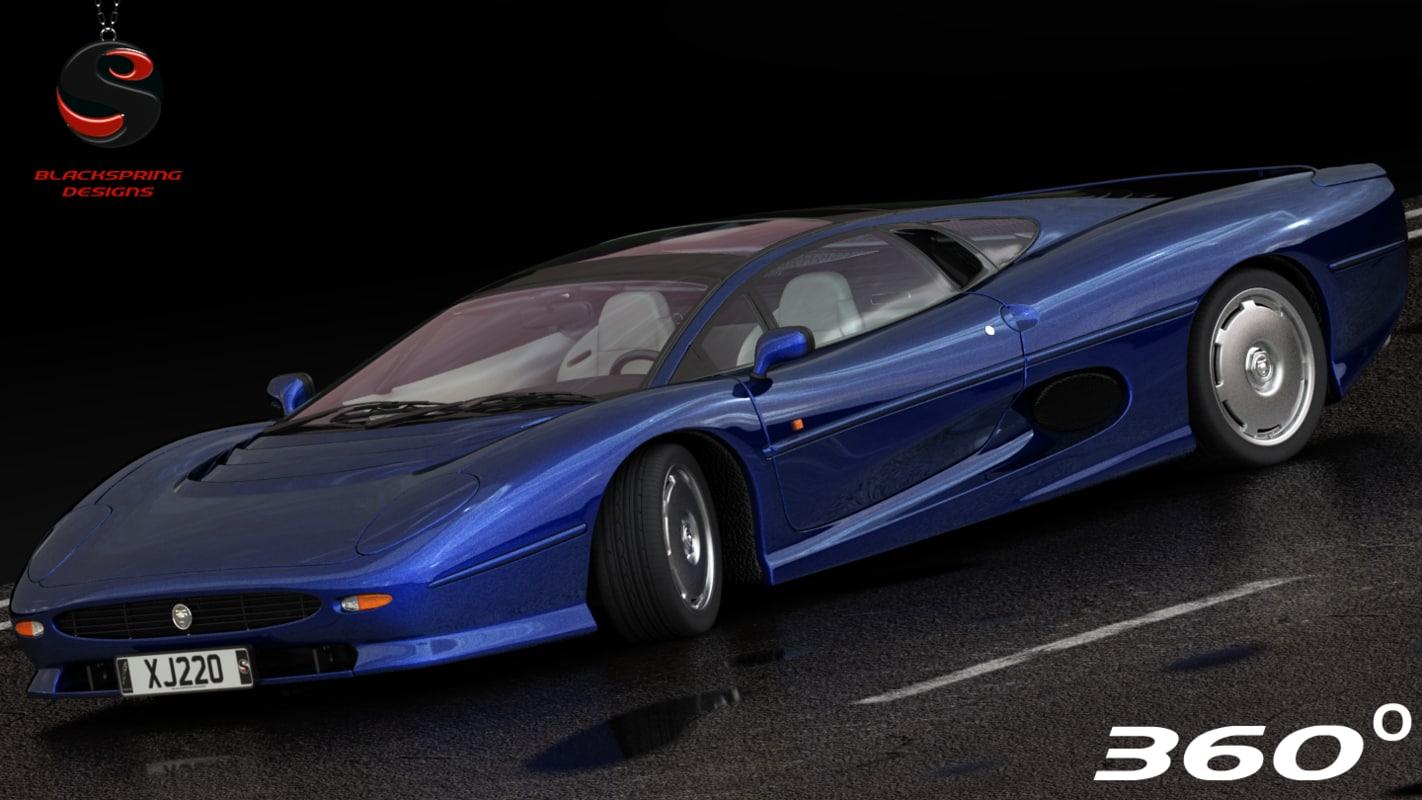 xj220 1992 3d model