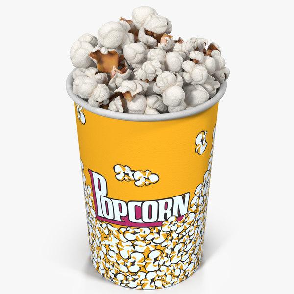 popcorn cup 8 3d max
