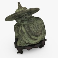 bronze chinese figure c4d