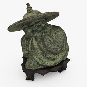bronze chinese figure c4d