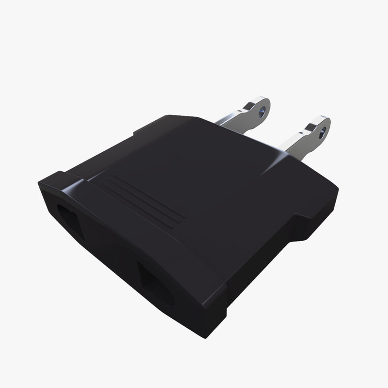 electrical power adapter 3d model