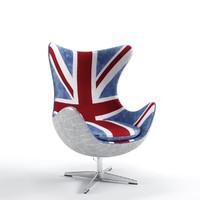 3d dialma brown db003034 armchair
