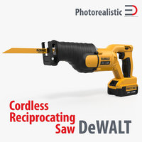Cordless Reciprocating Saw Dewolt 3D Model