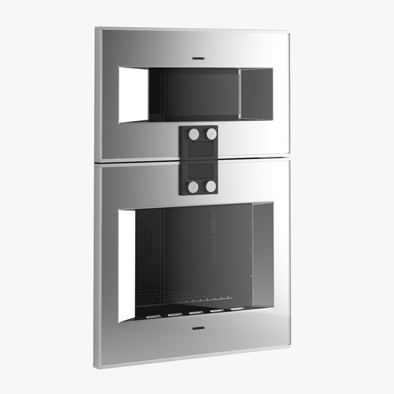 3d model of gaggenau ovens