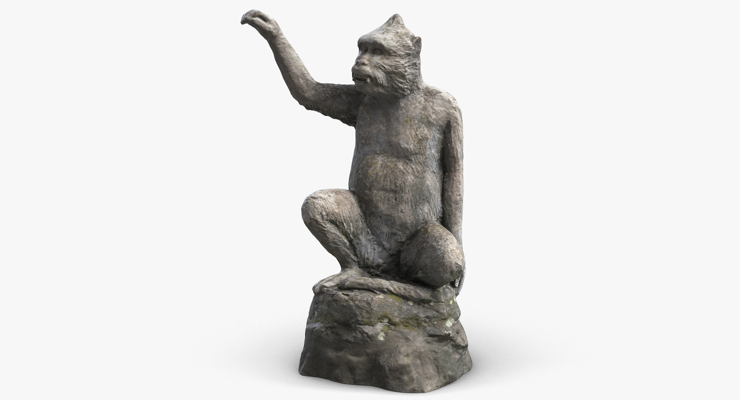 monkey sculpture 2 3d max