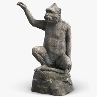 monkey sculpture 2 3d max