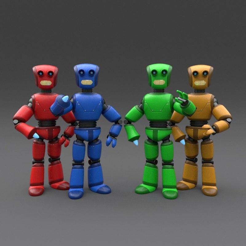 robot rigged 3d 3ds