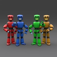 robot rigged 3d 3ds