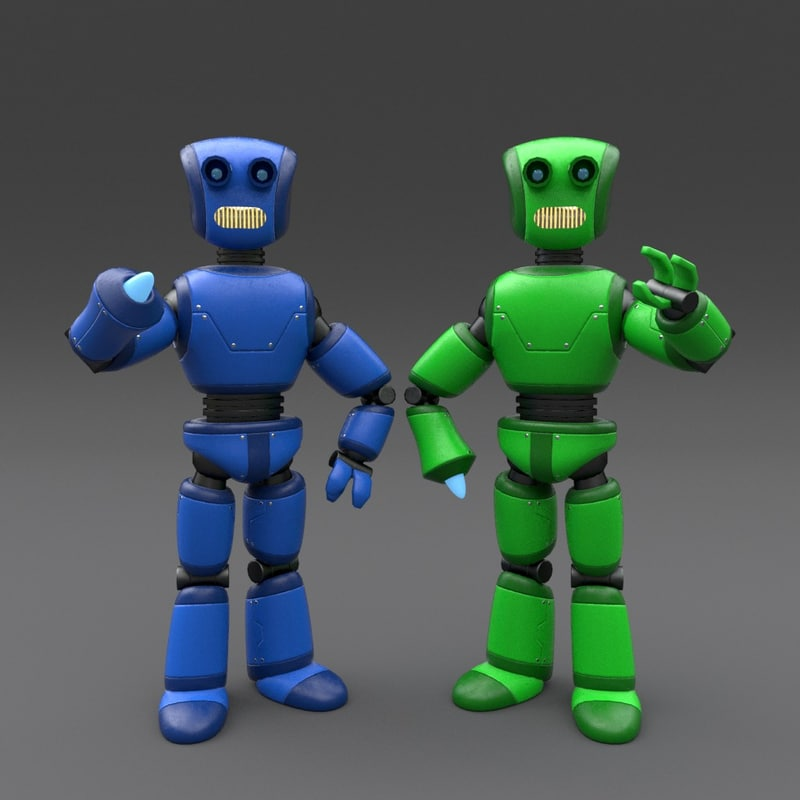 3ds robot rigged