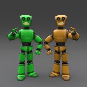 robot rigged 3ds
