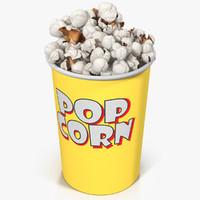 3d model popcorn cup 7