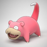 3d model of slowpoke pokemon