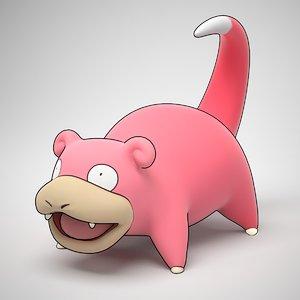 3d model of slowpoke pokemon
