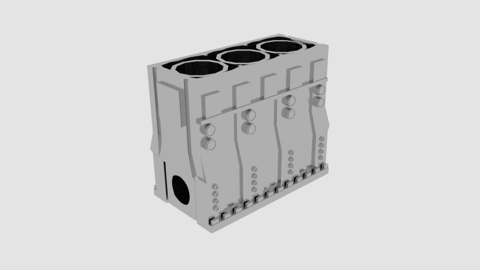 3d blockengine engine block