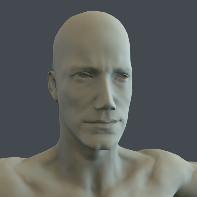 3d human male character model