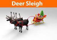 3d 3ds santa sleigh