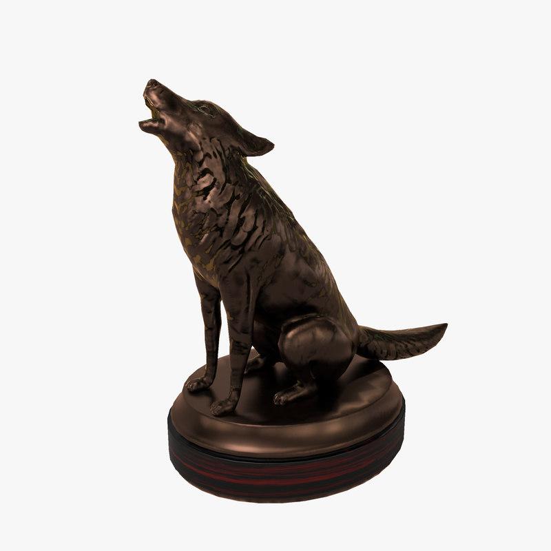 max wolf sculpture