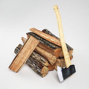 firewood ax 3d model