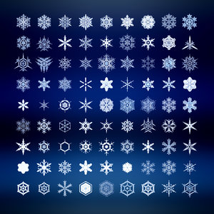 3d snowflakes set 81 piece model