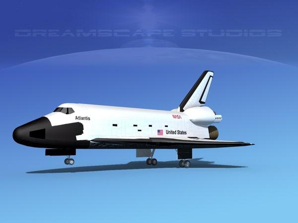landing space shuttle 3d model
