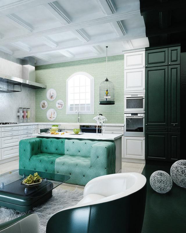 3ds modern kitchen vintage