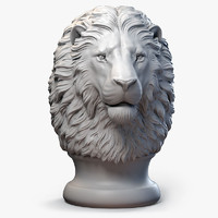 Lion Head Finial Serious