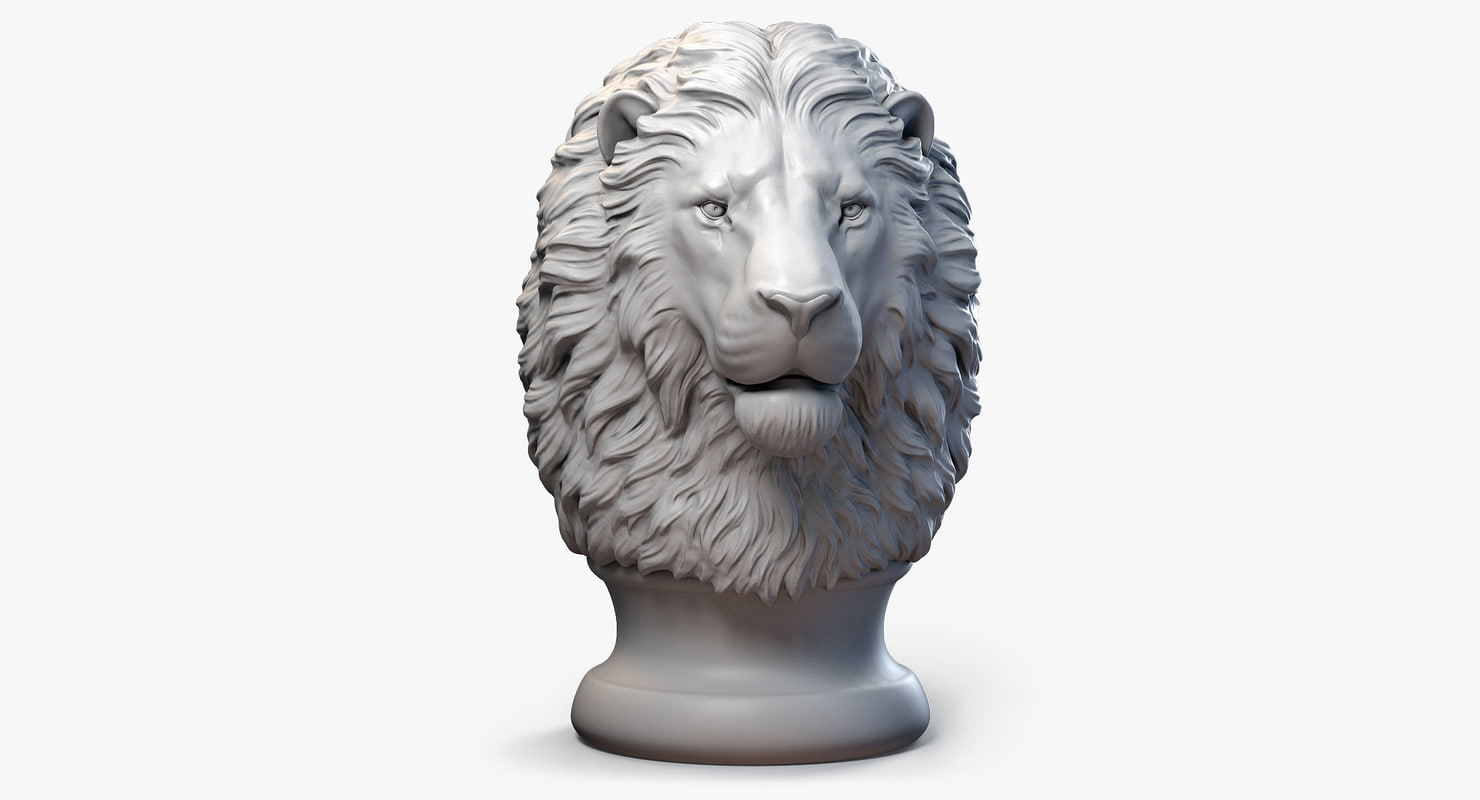 lion head finial 3d max