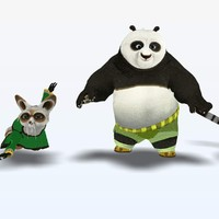 3d 3ds kung fu panda characters
