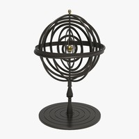 3d iron armillary sphere model