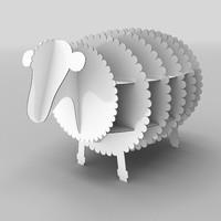 3d model lamb cardboard