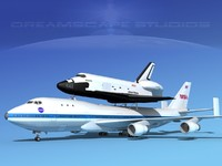 Space Shuttle Atlantis Transport MP 2-2 747