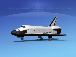 landing space shuttle dxf