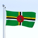 Dominica flag 3D models