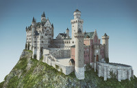 german neuschwanstein 3d max