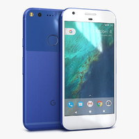 3d model google pixel really blue