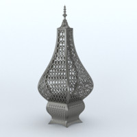 3d arabic lantern metal lamps model
