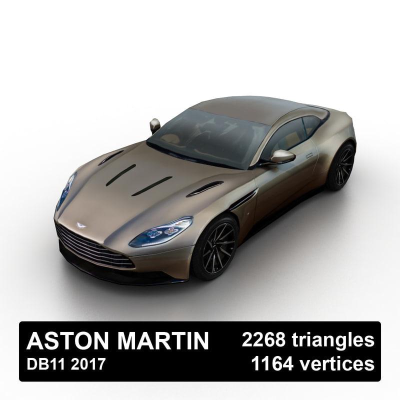 3d 2017 aston martin db11