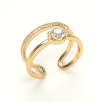 3d diamond ring gold model