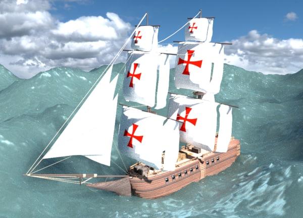 3d templar ship